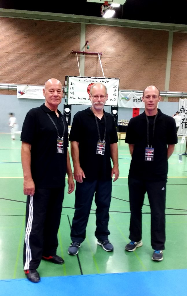 Kampfrichter Willi Kleysteuber, Stephan Bathen und Glen Richardson