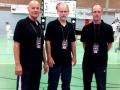Kampfrichter Willi Kleysteuber, Stephan Bathen und Glen Richardson